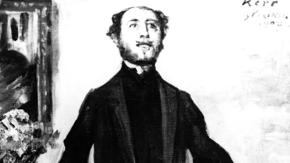 """""""Portrait Alfred Kerr"""" von Lovis Corinth."""
