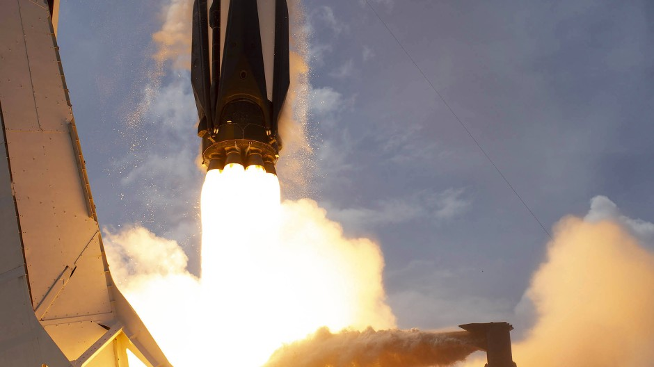 Launch der Demo-2 Mission mit einer SpaceX Falcon 9 Rakete im Juni