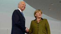 Merkel auf Abschiedstour in den USA