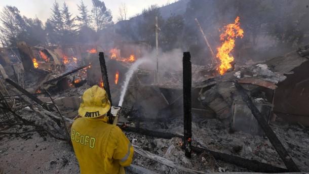 Riesige Schäden durch Feuer in Kalifornien