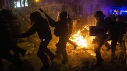 Gewalt zwischen Separatisten und Polizei in Barcelona