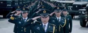Strammstehen zu Rapklängen: Bild aus einem Image-Video der Volksbefreiungsarmee.