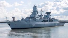 Deutschland entsendet Fregatte in ostasiatische Gewässer