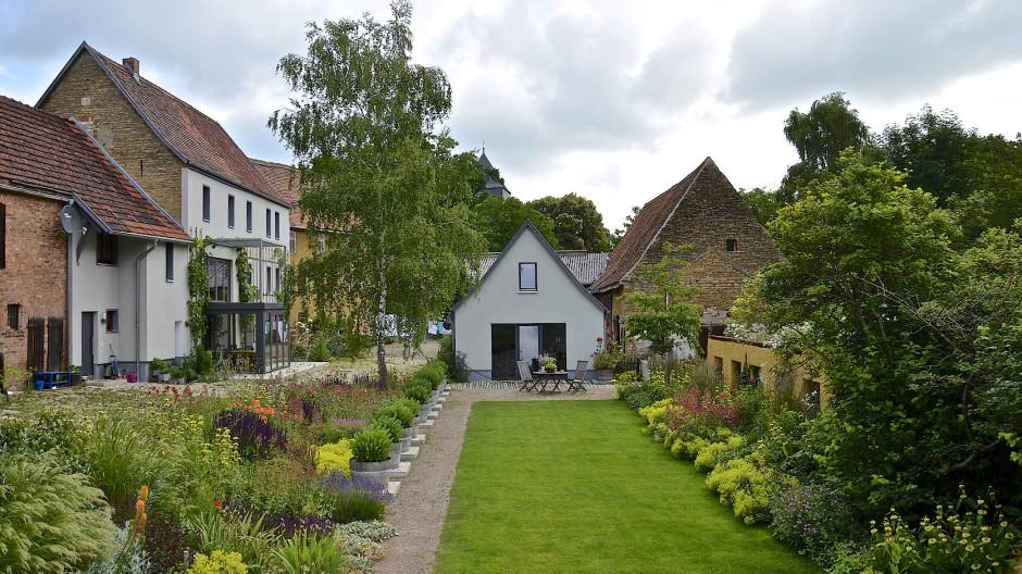 Michael Dane hat die Gartenlandschaft in Nermsdorf gestaltet.