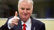 """""""Ich schlafe gut."""" Ratko Mladic vor der Urteilsverkündung in Den Haag"""