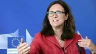"""EU-Handelskommissarin Cecilia Malmström will eine """"ehrliche Diskussion führen"""""""
