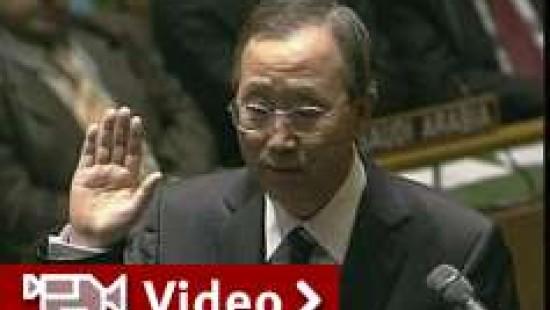 Ban Ki Moon als UN-Generalsekretär vereidigt