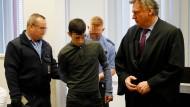 """""""Ich weiß nicht, wie das geschehen konnte"""": Ali B. am Dienstag im Landgericht Wiesbaden"""
