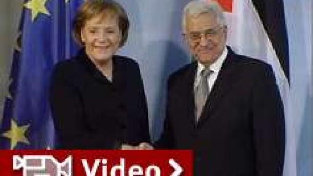 Merkel: Palästinenser sind am Zug