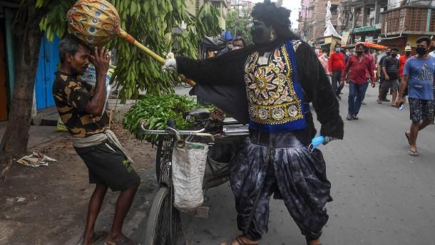 "Hindu-Gott ""Yama"" erschreckt die Bürger"