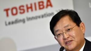 Rücktritt bei und Bieterwettbewerb um Toshiba