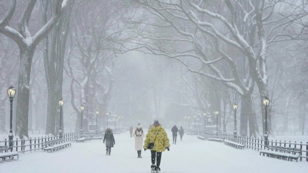 Schnee verzaubert Central Park in New York