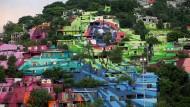 Das gewaltige Bild ist Teil eines Sozialprojekts für das mexikanische Armenviertel Cerro de la Campana.