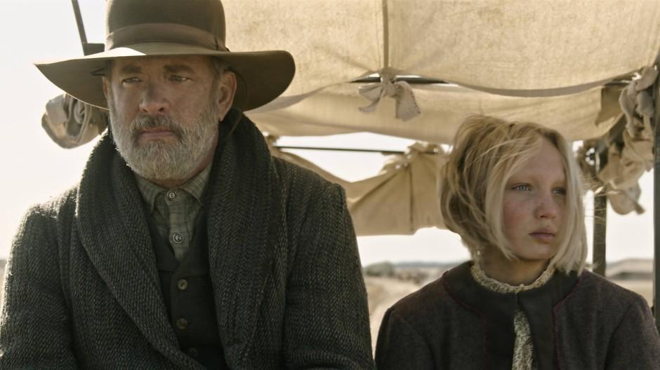 Unterwegs nach Hause, ohne zu wissen, wo das ist: Captain Jefferson Kyle Kidd (Tom Hanks) und das Findelkind Johanna (Helena Zengel)