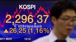 Südkoreas Aktienindex steigt weiter