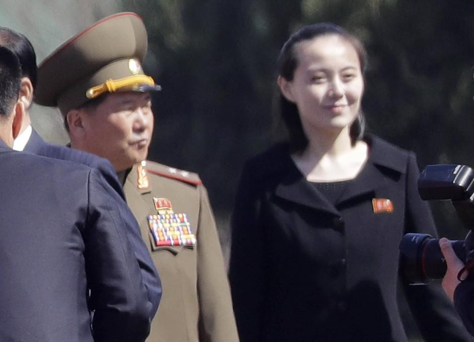 Kim Yo-jong bei einem Termin in Pjöngjang (April 2017)