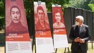"""Bundespräsident Frank-Walter Steinmeier besucht die Ausstellung """"Dimensionen des Verbrechens"""" im Deutsch-Russischen Museum Berlin-Karlshorst."""