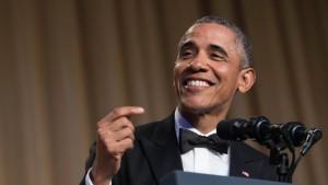 Obama witzelt über Trump, andere und sich selbst