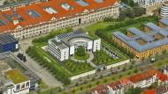 Ligusterhecke statt Stacheldraht: das Gebäude der Bundesanwaltschaft in Karlsruhe.