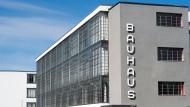 Das Bauhausgebäude in Dessau-Roßlau, Sachsen-Anhalt.