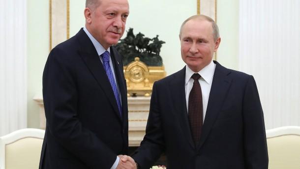 Putin und Erdogan beraten über Syrien-Konflikt