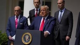 Trump spricht über George Floyd statt Arbeitslosenquote