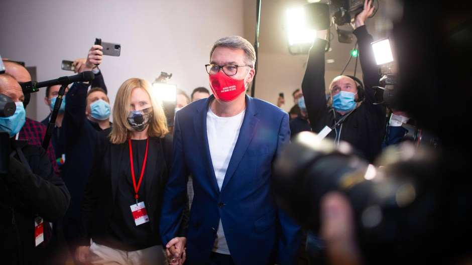 SPD-Kandidat Thomas Westphal mit seiner Frau Janine