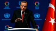 Präsident Erdogan beim UN-Nothilfegipfel in Istanbul