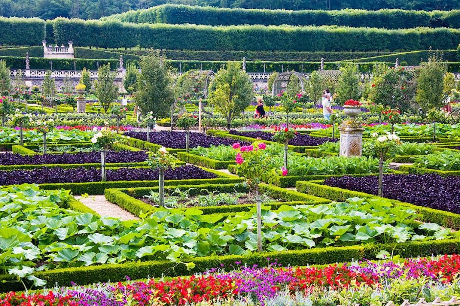 Küchengärten wie der von Villandry an der Loire waren Wegbereiter der Esskultur.