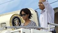 Endlich Urlaub: Familie Obama macht frei