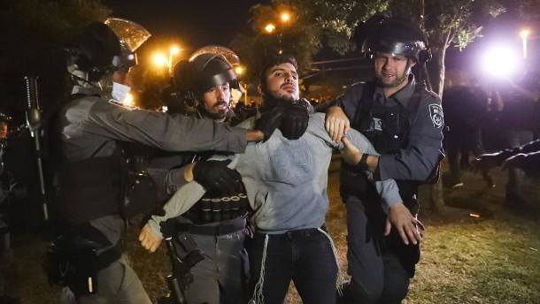 Zahlreiche Verletzte bei Zusammenstößen in Jerusalem