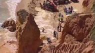 Fünf Touristen von Felsbrocken getötet