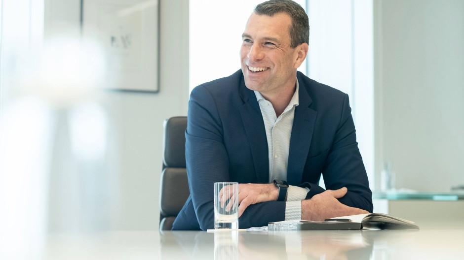 Michael Ilgner während des Interviews mit der F.A.Z.