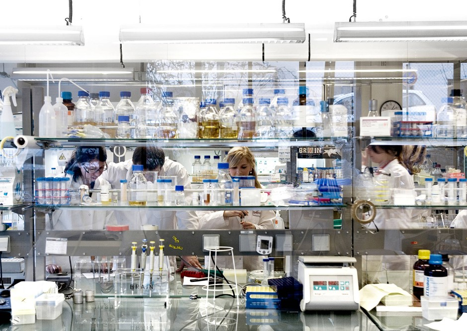 Im Labor von Brain in Zwingenberg