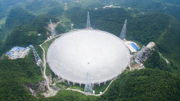 Das größte radioteleskop der welt in china