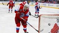Jeder Schuss ein Treffer: Putin beim Eishockeyspiel in Sotschi