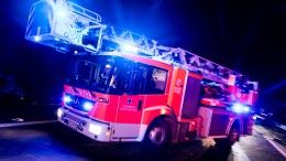 Neun Verletzte bei Wohnhausbrand