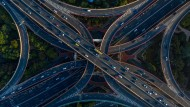 Weniger Neuwagen aus Deutschland unterwegs: Straßen in Schanghai