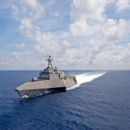 Amerikanisches Kampfschiff unterwegs im Südchinesischen Meer