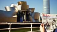 Guggenheimmuseum: Das Wahrzeichen gab den Impuls zum Wirtschaftsaufschwung Bilbaos.