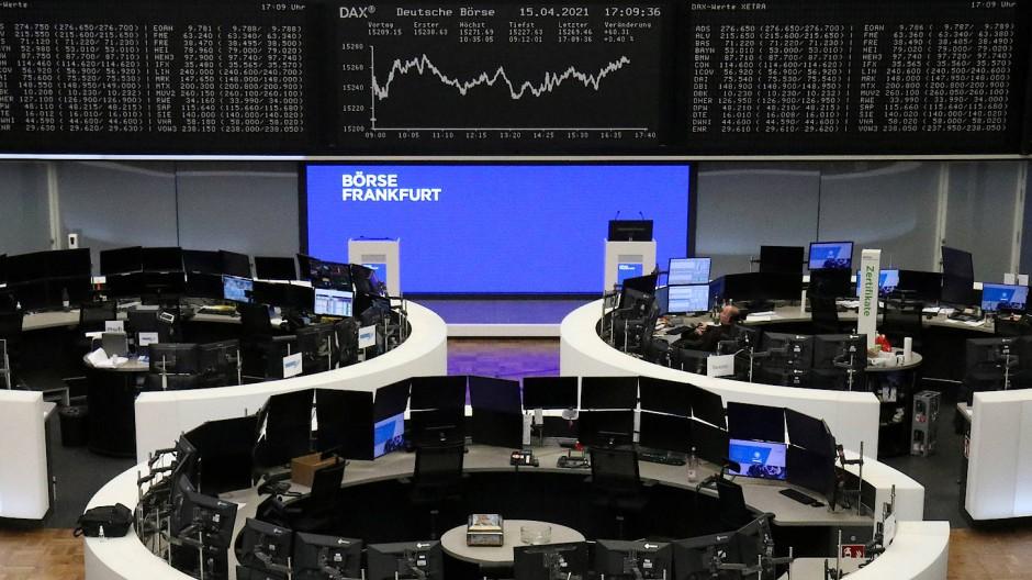Die Dax-Kurve in der Frankfurter Börse.