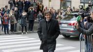 Ungebetener Gast: der abgesetzte katalanische Regionalpräsident Carles Puigdemont in Brüssel