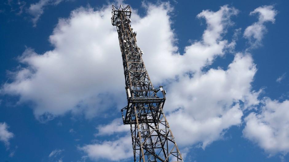 Zukunftsweisende Technologie: Der Sendeturm in Frankfurt ermöglicht 5G-Mobilfunk.
