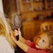 Als Familie zusammen sein, auch wenn die Folgen der Chemotherapie sichtbar werden.