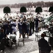 Tanz auf dem Vulkan? In einem Café am Wannsee in Berlin, etwa 1925