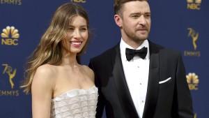 Justin Timberlake wechselt auch Windeln