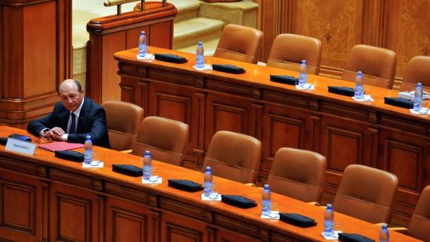Amerika sieht Demokratie in Rumänien in Gefahr