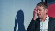 Björn Höcke nimmt im August 2019 am Wahlkampfabschluss der AfD in Brandenburg teil.