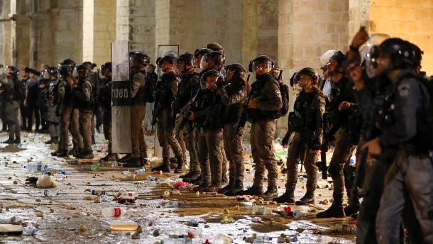 Gewaltsame Ausschreitungen am Tempelberg in Jerusalem