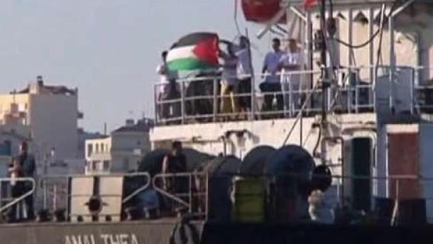 Libysches Hilfsschiff erreicht Ägypten